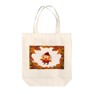 秋冬ファッションのクレコちゃん Tote bags