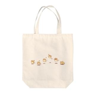 ほわあにぴょんぴょんネコ Tote bags