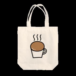 Ochieのなみなみカフェオレ Tote bags
