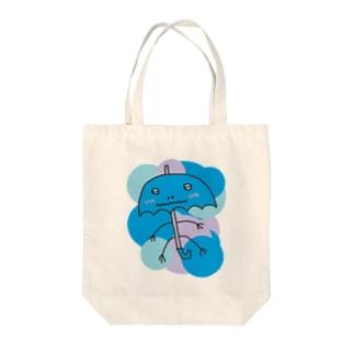 照れる傘太郎 Tote bags