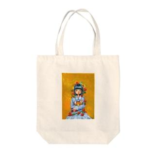 夢を抱える女の子 Tote bags