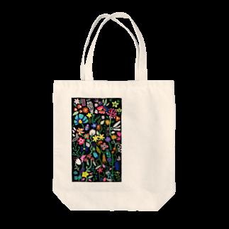 Rucolieのbotanical black Tote bags