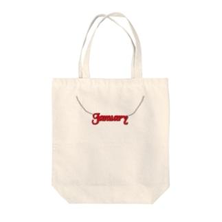 January Tote bags