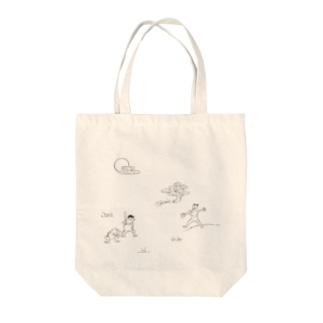 野球戯画 Tote bags