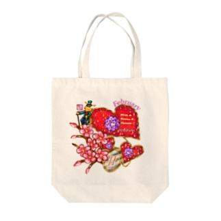 「花籠」Series * Birth02 February Tote bags