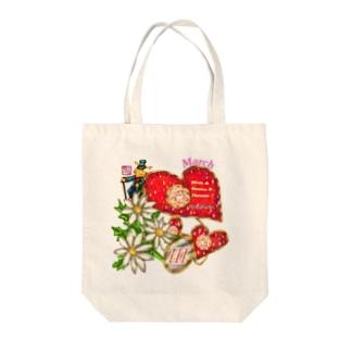 「花籠」Series * Birth03 March Tote bags
