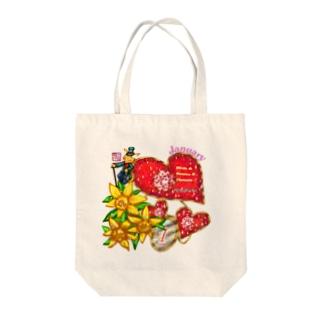 「花籠」Series * Birth01 January Tote bags