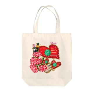 「花籠」Series * Birth05 May Tote bags