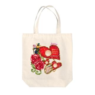 「花籠」Series * Birth06 June Tote bags