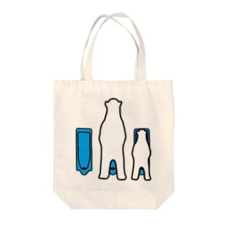 親子トイレ Tote bags