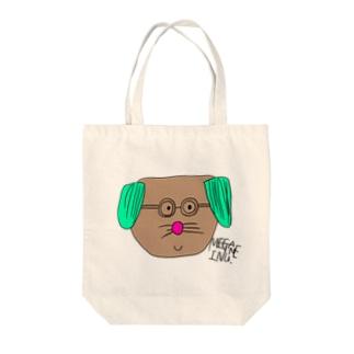 めがねいぬ Tote bags