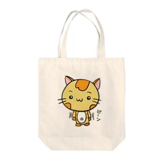 ぴんにゃん Tote bags
