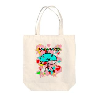 にっこり傘太郎 Tote bags
