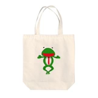 ざまぁガエル Tote bags