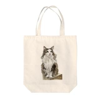 ノルウエージャンのミエルちゃん Tote bags