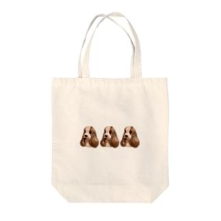 ねむねむいぬ トリオ2 Tote bags