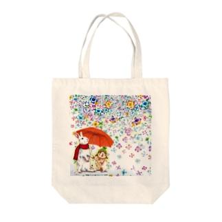 雨紫陽花 Tote bags