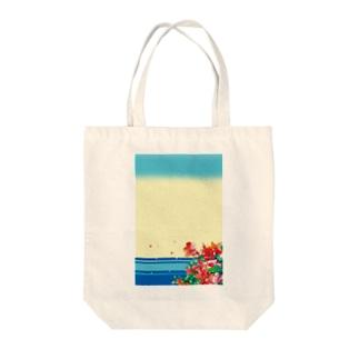 湖畔のヤマツツジ Tote bags