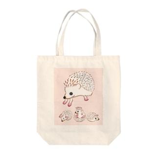 ハリネズミのお母さんと愉快な子供達 Tote bags