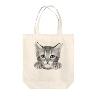 イタズラ子猫 Tote bags
