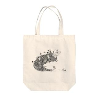 オナカスイタ 白黒 Tote bags