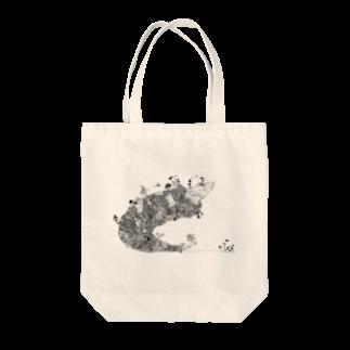フジサキ(よころ)のオナカスイタ 白黒 Tote bags