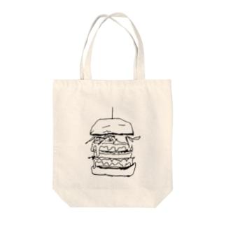 big バーガー Tote bags