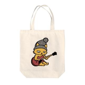 ギターネコ Tote bags