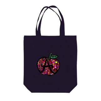 カラフル林檎 Tote bags