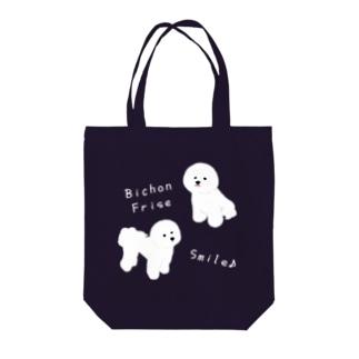 Bichon Smile  Tote bags