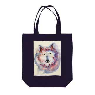 wolf Tote bags