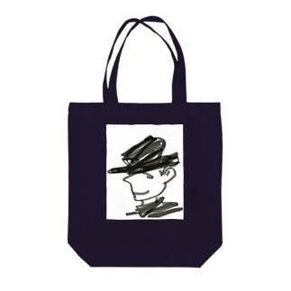 Hatman Tote bags