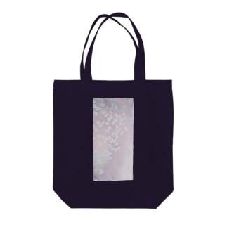 「今・盛りなり」 手染め ろうけつ染め桜 花びら Tote bags