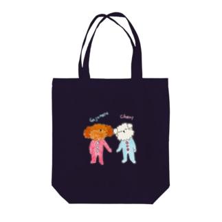 ガジュマルベイビーとシェリーベイビー Tote bags