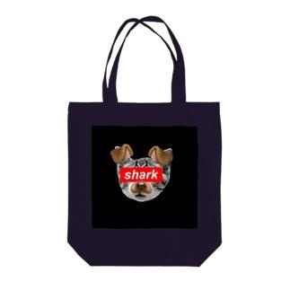 shark cat dog Tote bags