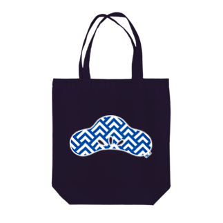 FUNCTION LIMITEDの松葉波模様 光琳松 青 Tote bags