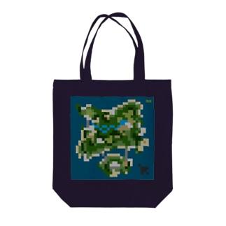 とある島のドット絵 Tote bags