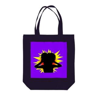 Panic Girl Tote bags