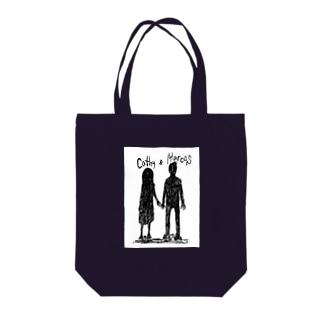 キャシーとマーカス Tote bags