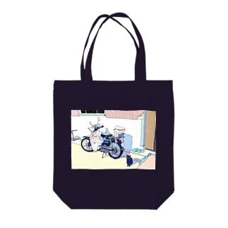 Father's motorcycle Tote bags