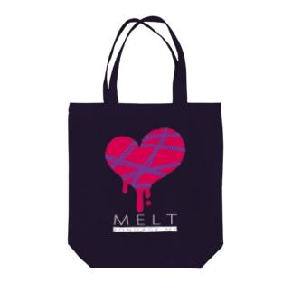 MELT-DARK- Tote bags