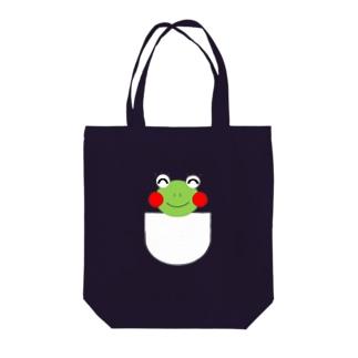ポケット(透けなし) Tote bags