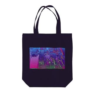 CYBERPUNKCITY Tote bags