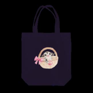 ぴーたんのフクロモモンガとさくらんぼ Tote bags