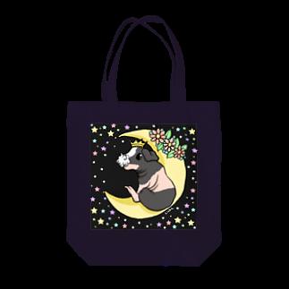 Lichtmuhleの月とモルモット(ゆるかわ×スキニーギニアピッグ) トートバッグ