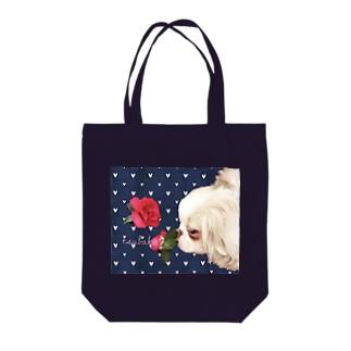お嬢さまはお花が好き、椿[狆] Tote bags