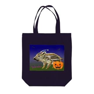 雪猫@LINEスタンプ発売中のウリ坊 ハロウィン Tote bags