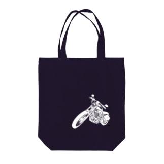 バイクシリーズ_クロ Tote bags