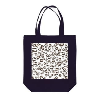 ひょう柄猫ちゃん白 Tote bags