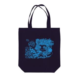 愛と感謝 水色 Tote bags